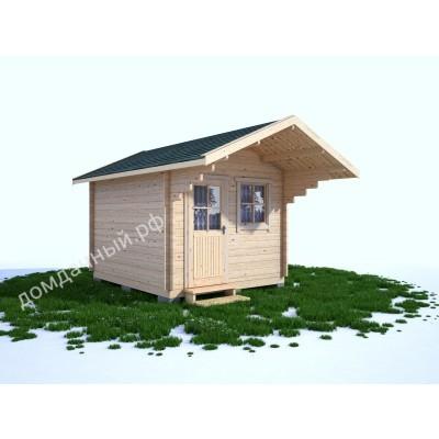 Садовый домик c навесом 3х3
