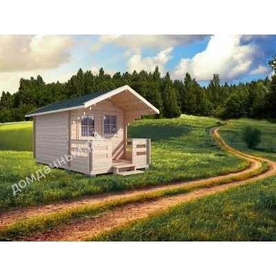 Садовый домик c террасой 3х5