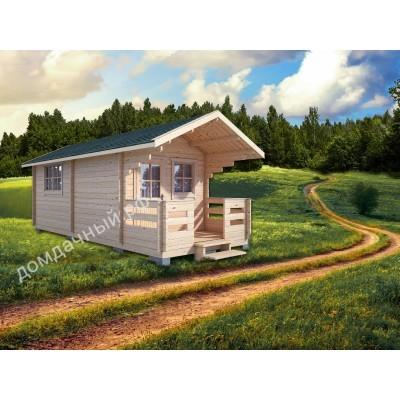Садовый домик c террасой 3х7