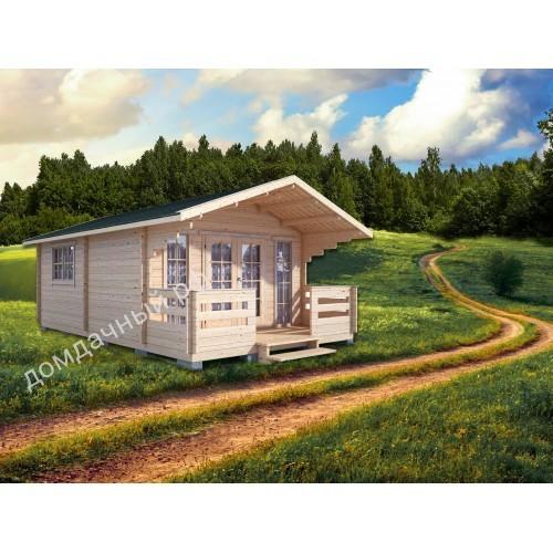 Садовый домик c террасой 4,5х7,5