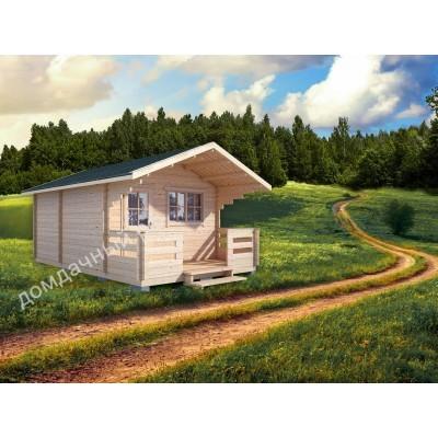 Садовый домик c террасой 4х5,5