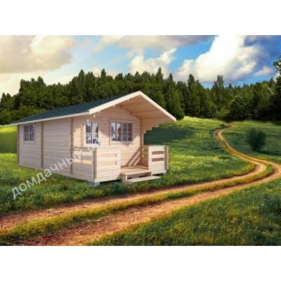 Садовый домик c террасой 4х7