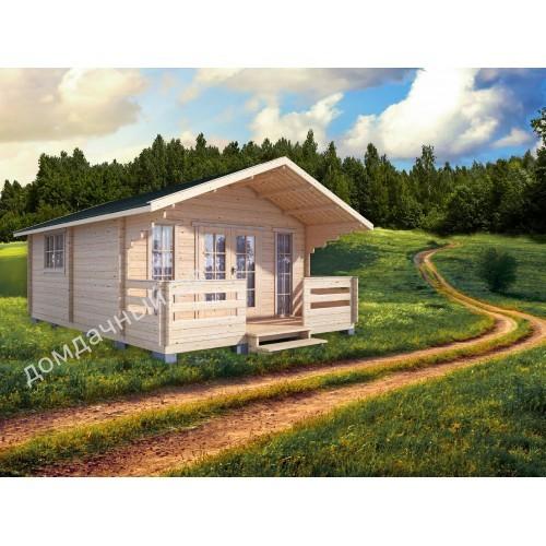 Садовый домик c террасой 5х7,5