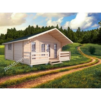 Садовый домик c террасой 6х7,5