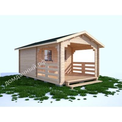 Садовый домик c верандой 3х5,5