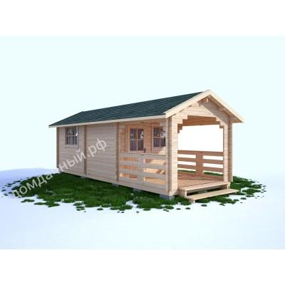 Садовый домик c верандой 3х7,5