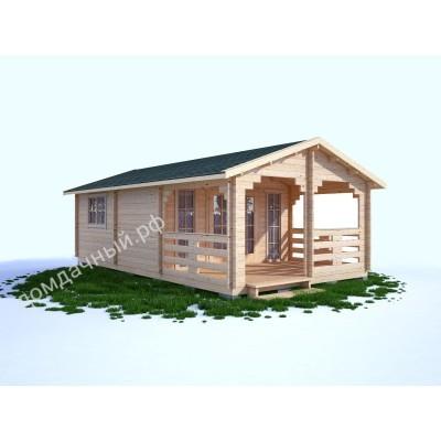 Садовый домик c верандой 4,5х7