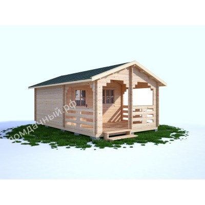 Садовый домик c верандой 4х6,5