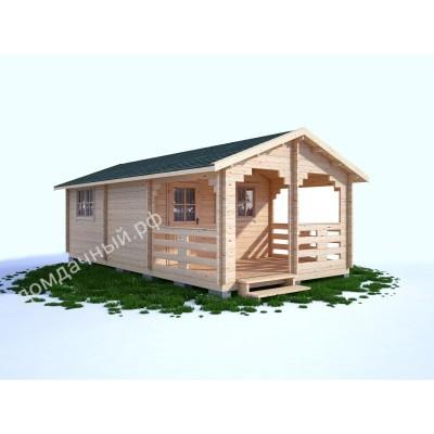 Садовый домик c верандой 4х7,5