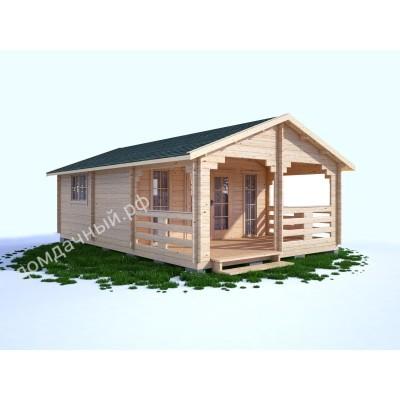Садовый домик c верандой 5х7,5