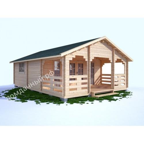 Садовый домик c верандой 6х8,5